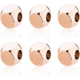 Charms ciondolo in acciaio e pvd oro rosa 6 pezzi BROSWAY BTJU04