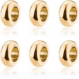 Charms ciondolo in acciaio e pvd oro 6 pezzi BROSWAY BTJU14