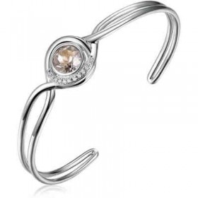 Brass bangle bracelet with zircons and Swarovski BROSWAY BAO11
