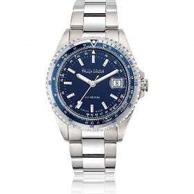 Orologio da polso uomo solo tempo Philip Watch quadrante blu R8253597020
