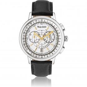 Orologio da polso uomo cronografo Philip Watch cintirino in vera pelle R8271698003