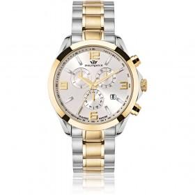 Orologio da polso uomo cronografo Philip Watch Finiture in oro giallo R8273665002