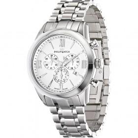 Orologio da polso uomo cronografo Philip Watch cinturino in acciaio bicolore R8273996001