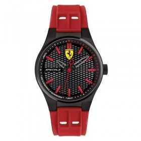 Clocks male FERRARI TEAM strap with red silicone FER0840010