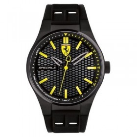Clocks male FERRARI TEAM with black silicon strap FER0830354