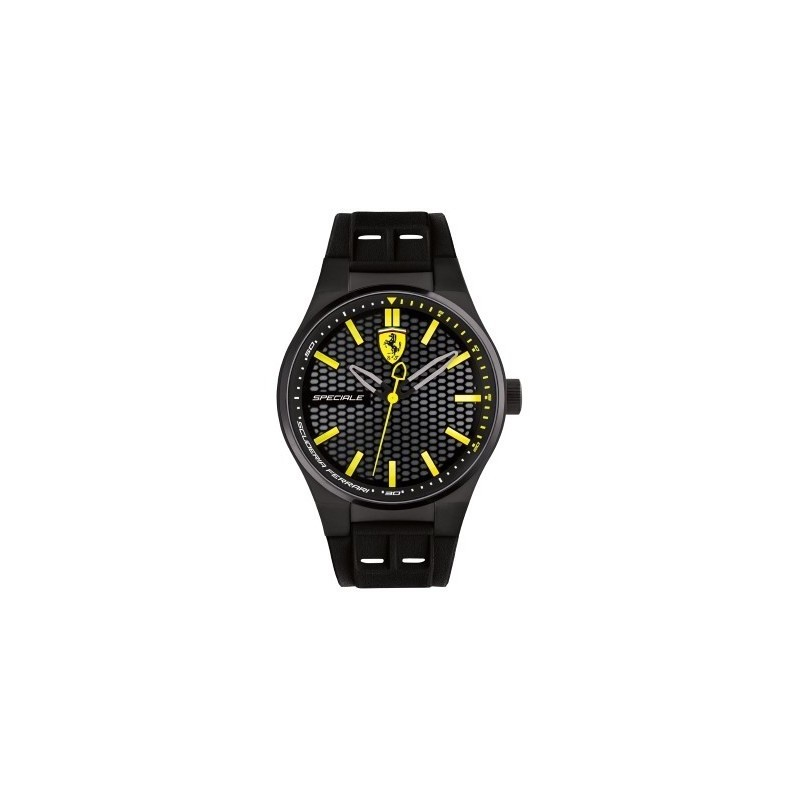 Clocks male FERRARI TEAM with black silicon strap FER0830354