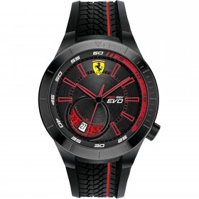 Clocks male FERRARI TEAM with black silicon strap FER0830339