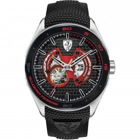 Clocks male FERRARI TEAM with strap in black automatic FFER0830348 silicone