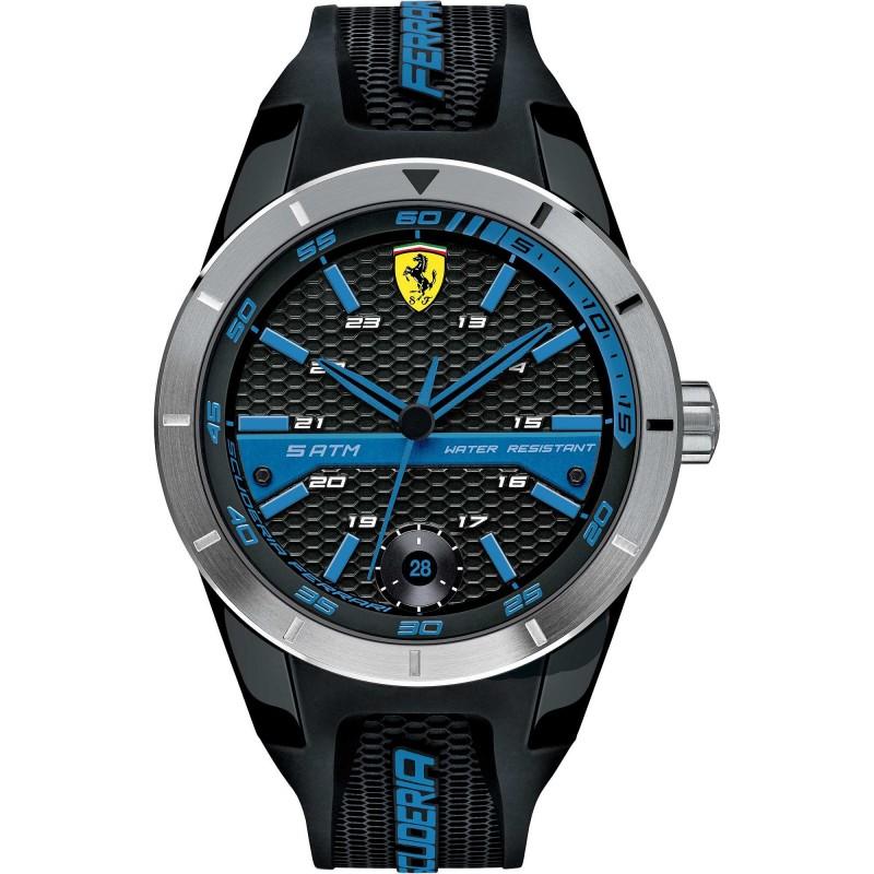 Clocks male FERRARI TEAM with black silicon strap FER0830252