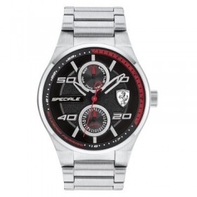 Clocks male FERRARI TEAM with FER0830358 multifunction steel bracelet