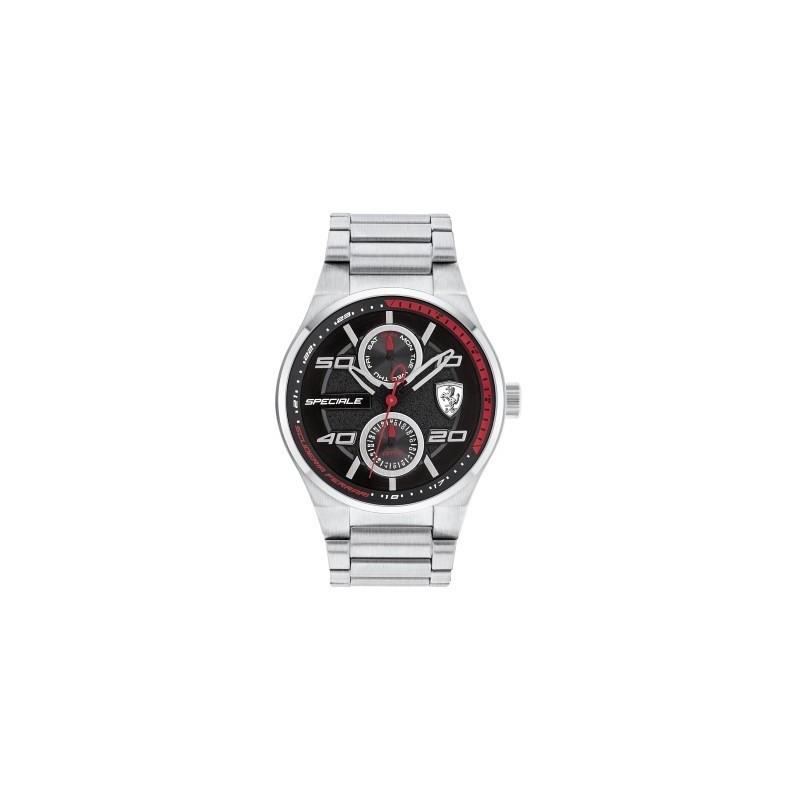 Clocks male FERRARI TEAM with FER0830358 multifunction steel bracelet