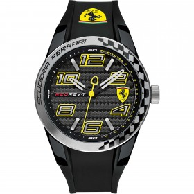 Clocks male FERRARI TEAM with black silicon strap FER0830337