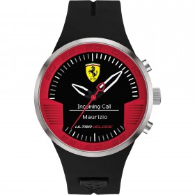 Clocks male FERRARI TEAM with black silicone strap FER0830373 SmartWatch