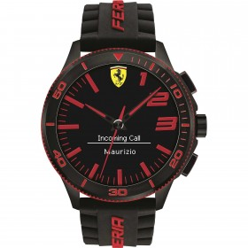 Clocks male FERRARI TEAM with black silicon strap FER0830375