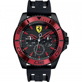 Clocks male FERRARI TEAM with strap in black FER0830310 multifunction silicone