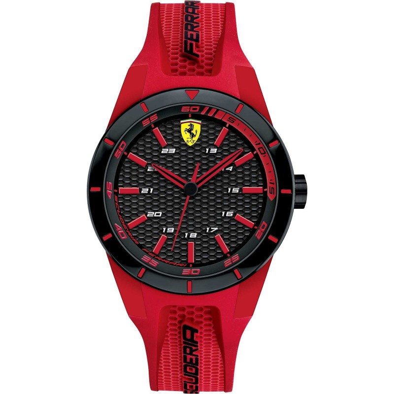 Clocks male FERRARI TEAM strap with red silicone FER0840005
