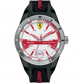 Clocks male FERRARI TEAM with black silicon strap FER0830250