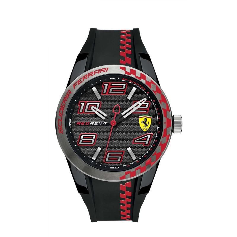 Clocks male FERRARI TEAM with black silicon strap FER0830336