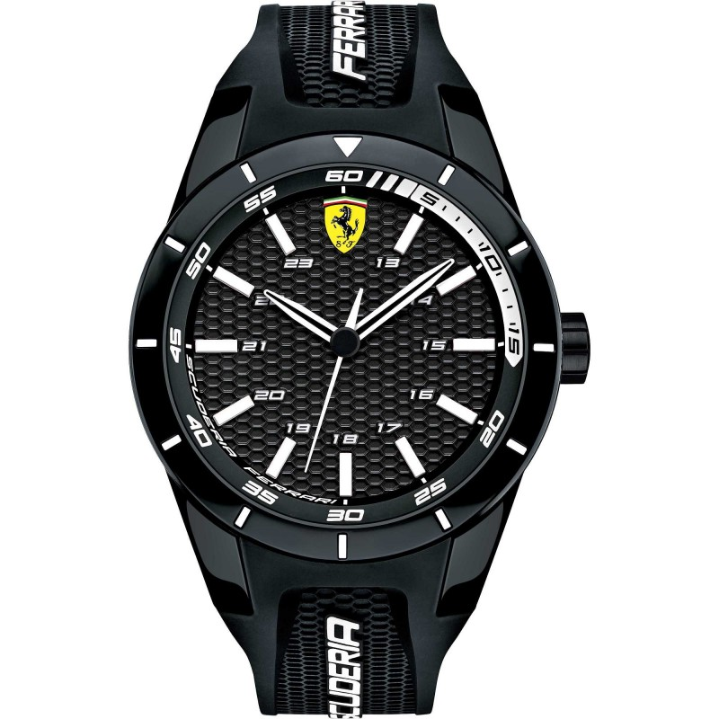 Clocks male FERRARI TEAM with black silicon strap FER0830249