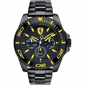 Clocks male FERRARI TEAM strap with black steel FER0830309