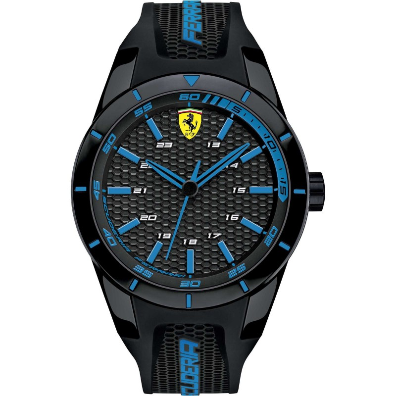 Clocks male FERRARI TEAM with black silicon strap FER0830247