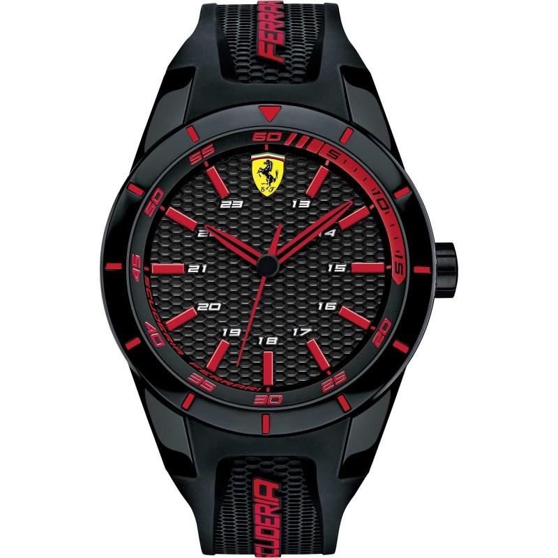 Clocks male FERRARI TEAM with black silicon strap FER0830245