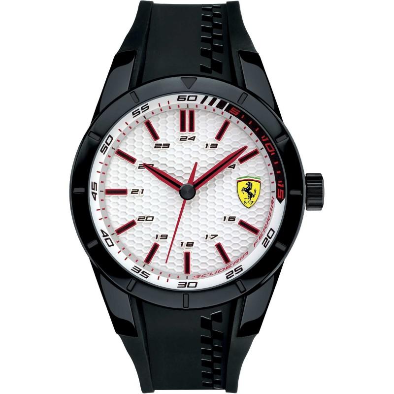 Clocks male FERRARI TEAM with black silicon strap FER0830300
