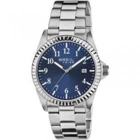 Orologio solo tempo in acciaio quadrante Blue BREIL EW0235