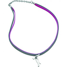 Necklace with pendant and double strap steel BREIL TJ0297