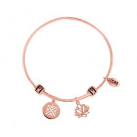 Bangle women Co88 Celestial steel rose 2 charm ANGELO INFINITE 8CB-25010