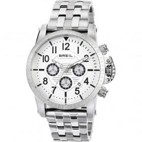 Orologio Cronografo Uomo BREIL cassa in acciaio e quadrante bianco TW1502