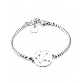 Hard Women's stainless steel bracelet with central SCALE with swarovski BROSWAY BHK17