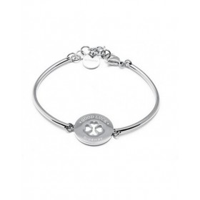 Hard Women's stainless steel bracelet with central CLOVER BROSWAY BHK47