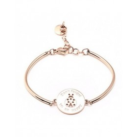 Hard steel bracelet women gold with central COCCINELLA BROSWAY BHK52