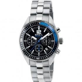 Orologio Cronografo Uomo cinturino in acciaio e quadrante nero BREIL TW1633