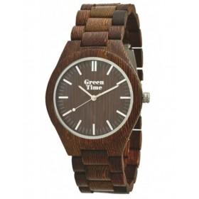 Orologio in legno Wenge solo tempo unisex GREENTIME ZW021D