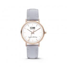 Orologio da polso donna in acciaio cinturino grigio e cassa gold CO88 8CW-10003