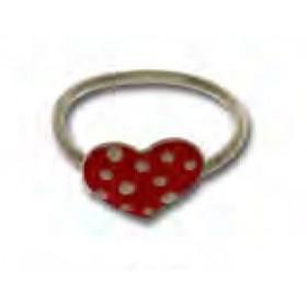 Anello per bambina in argento con cuore rosso UNOAERRE 439468