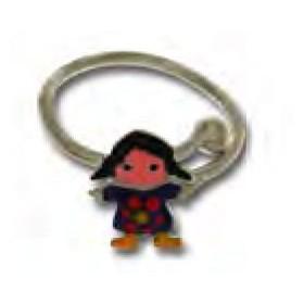 Anello per bambina in argento con bambolina colorata UNOAERRE 439471
