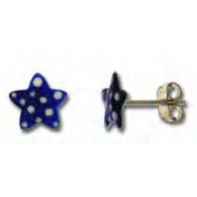 Earring button for little girl in silver with blue star at UNOAERRE 439477
