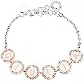 Necklace Compatible with Name 5 Bronze Letters with White Zircons DVCCIO ZXCNOM5 / 5