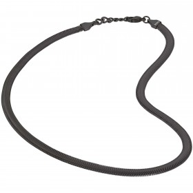 Polished and satin steel man's necklace with ip gun black BREIL TJ2250