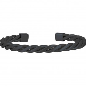 Bangle polished and brushed steel mesh bracelet woven with ip gun BREIL TJ2252