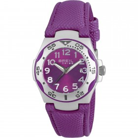 Clock Child Ice Extension steel case and purple fabric strap BREIL EW0290