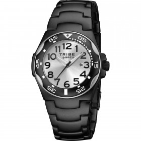 Aluminum man wristwatch with black pvd and satin silver dial BREIL EW0186
