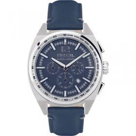 Orologio da polso cronografo uomo in acciaio e cinturino in pelle blue BREIL TW1460