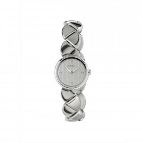 Orologio da polso bracciale donna in acciaio con quadrante grigio e cristalli BREIL TW1479