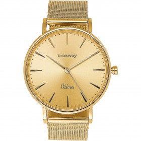 Watch only time woman in gold pvd and milanise strap BROSWAY WVI07