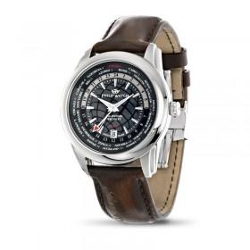 Orologio solo tempo uomo in acciaio e cinturino in pelle vintage PHILIP WATCH R8251196006