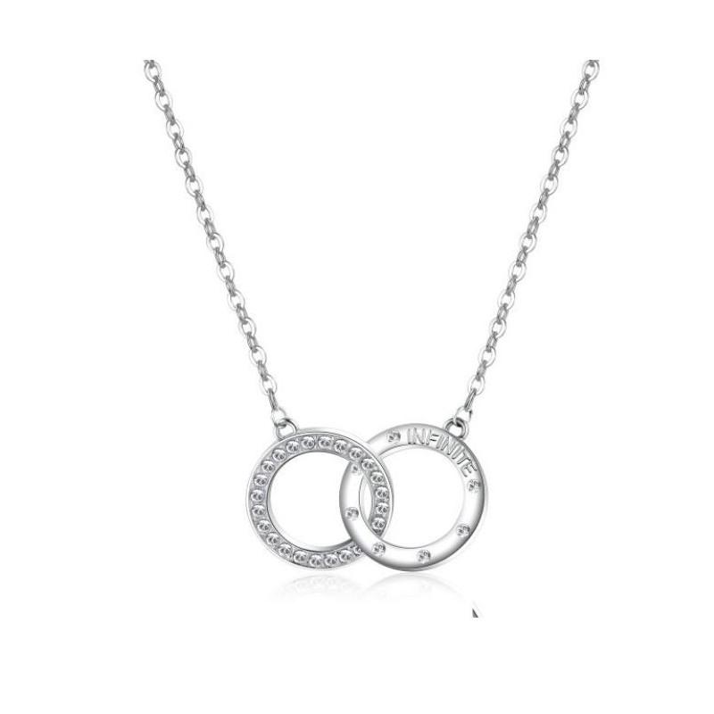 68e1b8276dab Collar de mujer INFINITO en acero inoxidable y swarovski BROSWAY ...
